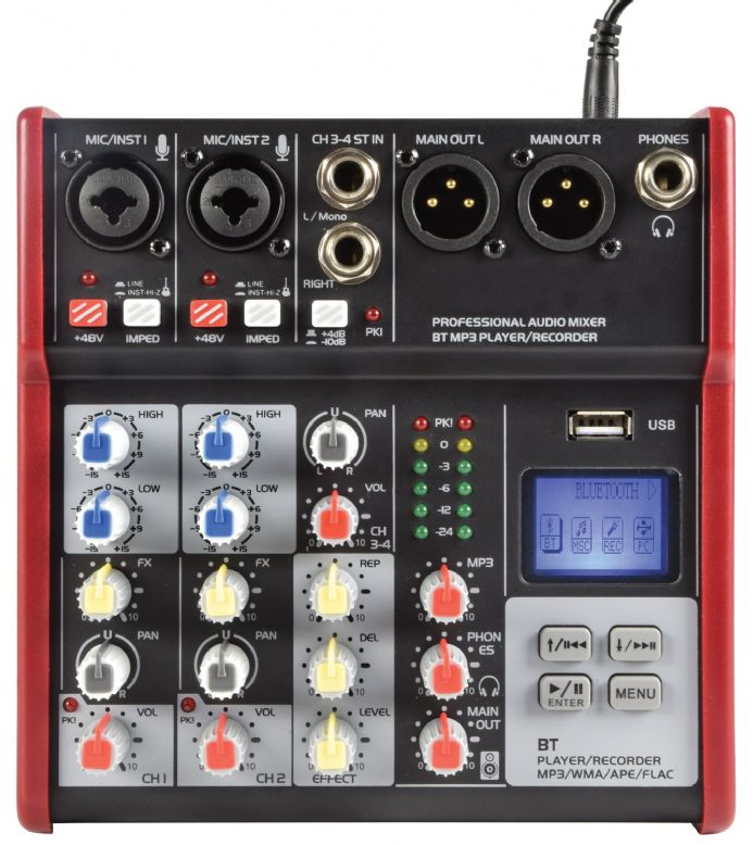 Citronic CSM-4 Compact Mixer With USB / Bluetooth